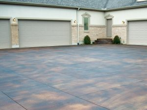Stained Concrete Driveway